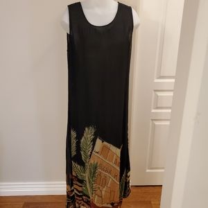 Papa Maxi Black Dress Large